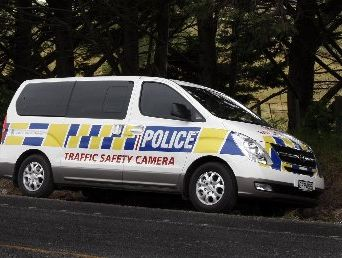 ON DISPLAY: The new police speed camera on State Highway 1.