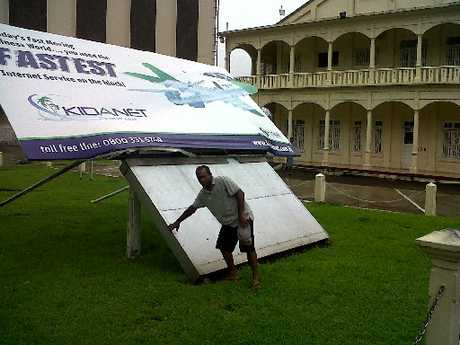 TOUGH GOING: Jekope Kuruleca has been hit by Cyclone Evan in Fiji and expects to get lashed again when he arrives home.