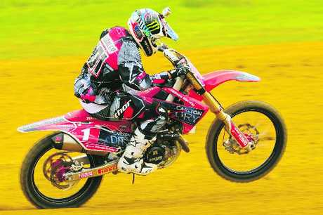 HEAVY HITTER: Tauranga's Ben Townley (Honda), one of the favourites to win this year's annual Whakatane Summercross.