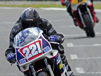 STILL GOING: Hawke's Bay's Eddie Kattenberg, on his 1000cc Yamaha, is keeping on keeping on.
