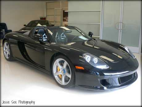 This Porsche Carrera GT is equipped with a 5.7-litre, 40 valve V10 engine.