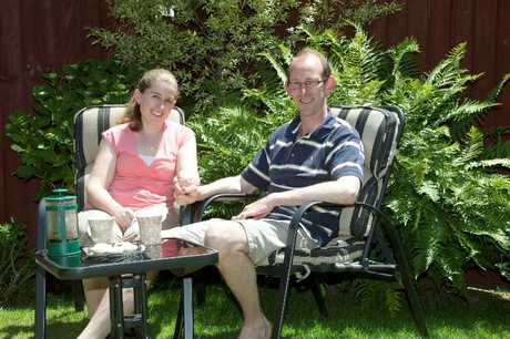 CENTRE OF STORM: David Bain and fiancee Liz Davies at home in Casebrook.