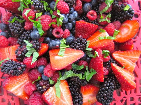 Indulge in this season's beautiful berries with a festive fruit salad for a fresh start on Christmas morning.