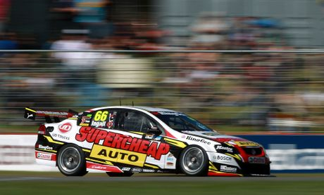 Auto Racing Australia on Russell Ingall Of The Supercheap Auto Racing Team Team Drives During