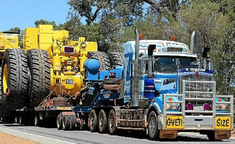 BIG IS BEST:Part time photographer Matt Hayes sells safety equipment when he isn't taking photos of Big Rigs like these ones in Perth. Photos: Matt Hayes