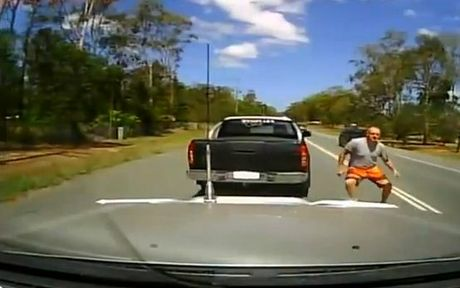 Road rage incident near Logan, south of Brisbane, captured on film. Images: Today Tonight.