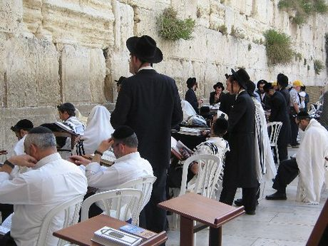 PILGRIMAGE: Jewish worshippers at the Western Wall.