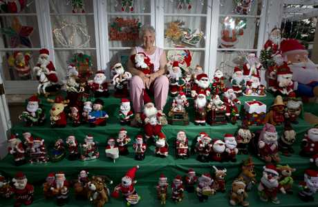 Every Christmas Iris Franks (pictured) and her husband Ray decorate their Glen Innes home.