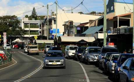 Kingscliff main street. Photo: John Gass / Daily News