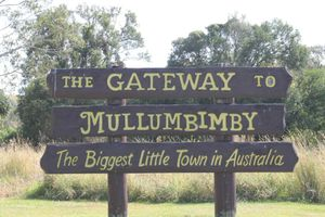 GATEWAY: The sign which greets travellers and visitors to Mullumbimby. Photo Contributed