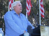 POLITICAL aspirant Clive Palmer says interest in his new party has been so great the groups website crashed over the weekend.