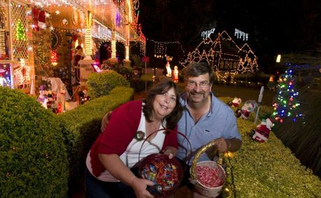 Debbie and Geoff Morris took out the Best Decorated Home for their home at 13 Mavis Ct, Highfields.