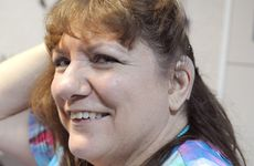 Sandy Trinham has just had her cochlear implant switched on. Photo Callum Bentley / The Chronicle