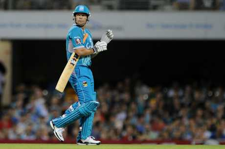 James Hopes of the Heat looks dejected as he leaves the field during the Big Bash League match between the Brisbane Heat and the Perth Scorchers at The Gabba on December 18, 2012 in Brisbane, Australia.