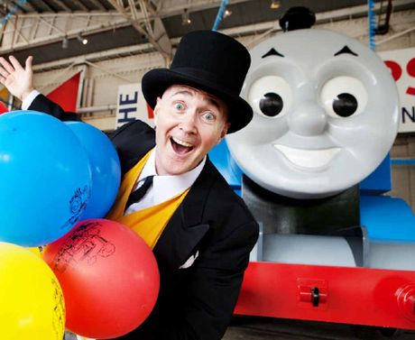 ALL SMILES: The Fat Controller is looking forward to seeing happy faces of Thomas fans.