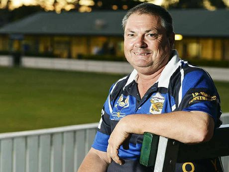 ACTIVE APPROACH: Goodna Rugby League Club president Tony Eilola ponders an exciting future.