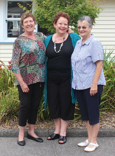 From left, Gill Clothier, Alison Trenwith, and Grace Wyatt said goodbye to colleagues and students at Silverdale Normal School this week.
