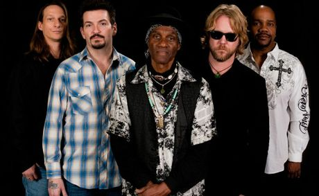The band The Royal Southern Brotherhood, from left, Charlie Wooten, Mike Zito, Cyril Neville, Devon Allman and Yonrico Scott.