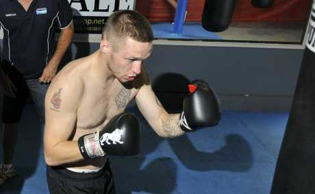Darren Askew preparing for his ring return in Toowoomba on March 8.