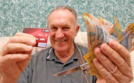 Accountant Brian Davis says credit cards a not a good idea. Photo Blainey Woodham / Daily News