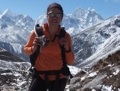 Te Arawa climber Annie Doyle is off to Antarctica to climb the continent's highest peak, Mt Vinson. She is pictured here by Mt Everest this year. Photo / Supplied