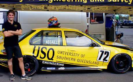 USQ student Nathan Assaillit is preparing to tackle next year's Kumho V8 Australian Touring Car Championship.