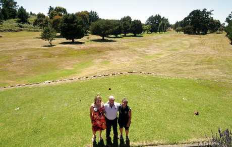LONG TERM FUTURE: Making plans to keep Rangitikei Golf Club's beautiful fairways open are, from left, Bronwyn Meads, Noel Crocker and Lynne McDonald. PHOTO/STUART MUNRO