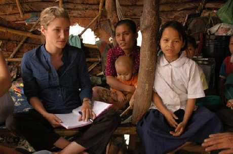 SPEAKING OUT: Pearl Going in Burma.