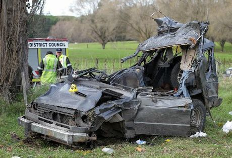 None of the four men who died in this crash in Putorino was wearing seatbelts - yet all had been drinking.