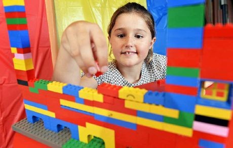 BUILD IT: Isabella Perrin, 6, is sure to be at the Switch Bricks holiday workshop for Lego lovers that takes place in January.
