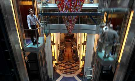 Gleaming chrome and glass abound on the decks of the highest-rated cruise ship in Australasian waters.