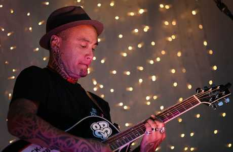 CHARITY PERFORMANCE: Tiki Taane played some smooth tunes at the Little Big Markets night market on Saturday night.
