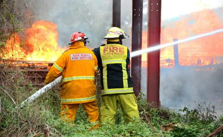 Building fire in Murwillumbah. Photo: John Gass / Daily News