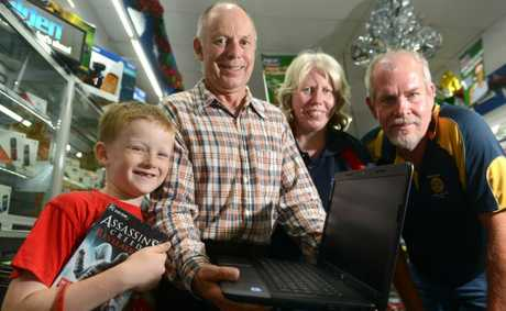 Jakai Duff, Tassie Duff, Diedri Shepherd and Jack Heffernan. Photo: John Gass / Daily News