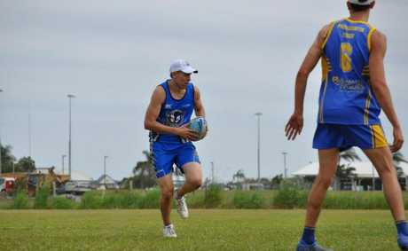Club Captain Mitch Alexander runs the ball in a game against Parramatta. Photo: Contributed