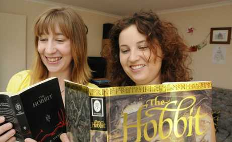 "Anita Baills and Lorilee Briggs excited that ""The Hobbit"" will in cinema's later this week. Photo: Bev Lacey / The Chronicle"