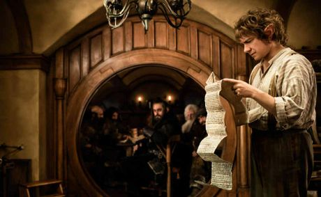 QUITE A READ: Martin Freeman stars as Bilbo Baggins in The Hobbit: An Unexpected Journey which opens today.