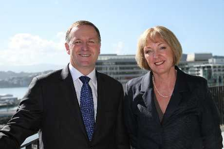 GREETINGS: Prime Minister John Key and MP for Waitaki Jacqui Dean. PHOTO/SUPPLIED.