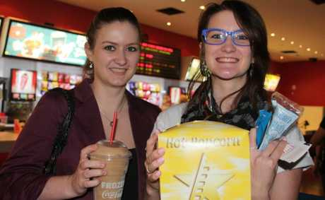 All set for The Hobbit in 3D are Rachel (left) and Kathryn Stephenson.