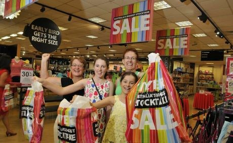 The Ticehurst family (from left) Shirley, Gabby, Zara, Michelle Ticehurst with their purchases from Myer Toowoomba.
