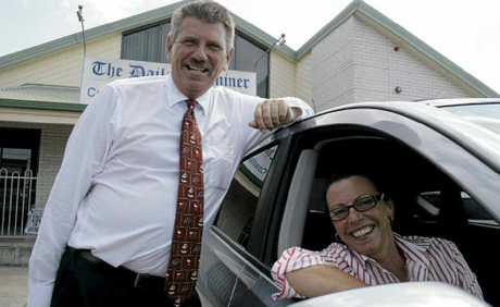 Clarence Coast Nissan manager Geoff Wicks delivers a new Nissan Dualis Ti-L to Daily Examiner general manager Judy Lewis who appreciates the great value in shopping local. Photo: Kate Matthews