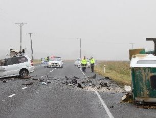 HORROR: A Dannevirke man was killed when his car and a truck collided on State Highway 2 about 10am on Christmas Eve.