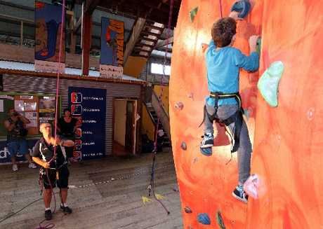 "TOO BIG A CHALLENGE: David Tait, adventure trust director, says the climbing wall ""isn't working for us"" financially and will close in less than two weeks."