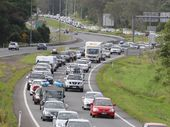 "THE FEDERAL Government has defended its spending on the Bruce Hwy in this week's Federal Budget, despite claims it is simply doing ""business as usual""."