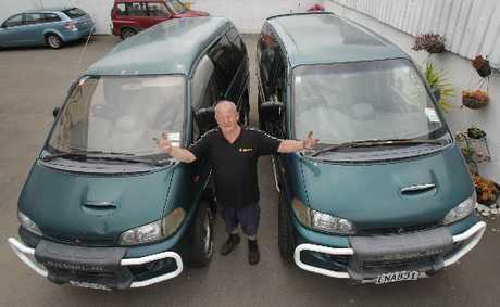 ROAD RAGE: Jim Fulton wonders why two his two identical vehicles have attracted different diesel tax charges.