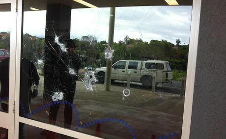 One of eight glass panels at the Goonellabah Sports and Aquatic Centre smashed on Boxing Day last year.