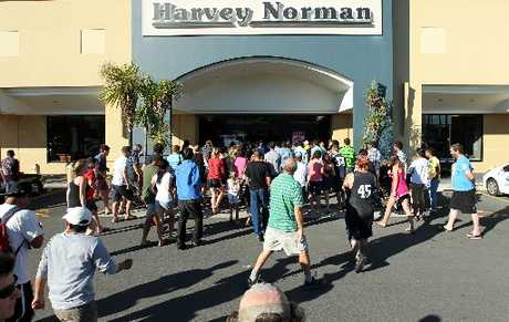 RETAIL RUSH: Large crowds poured into stores like Harvey Norman in Hastings to get their hands on coveted Boxing Day deals.