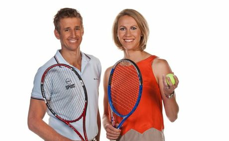 Mark Howard and Alicia Molik are part of Channel 10's coverage of The Hopman Cup.