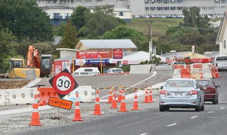 An alleged drink driver found it hard to negotiate the cones in place for roadworks on Rotorua's Lake Rd.