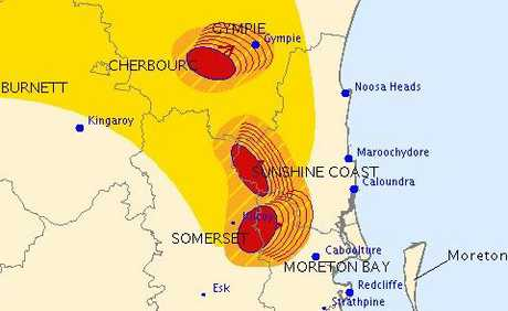 SEVERE thunderstorms are no longer affecting the Sunshine Coast and Gympie.